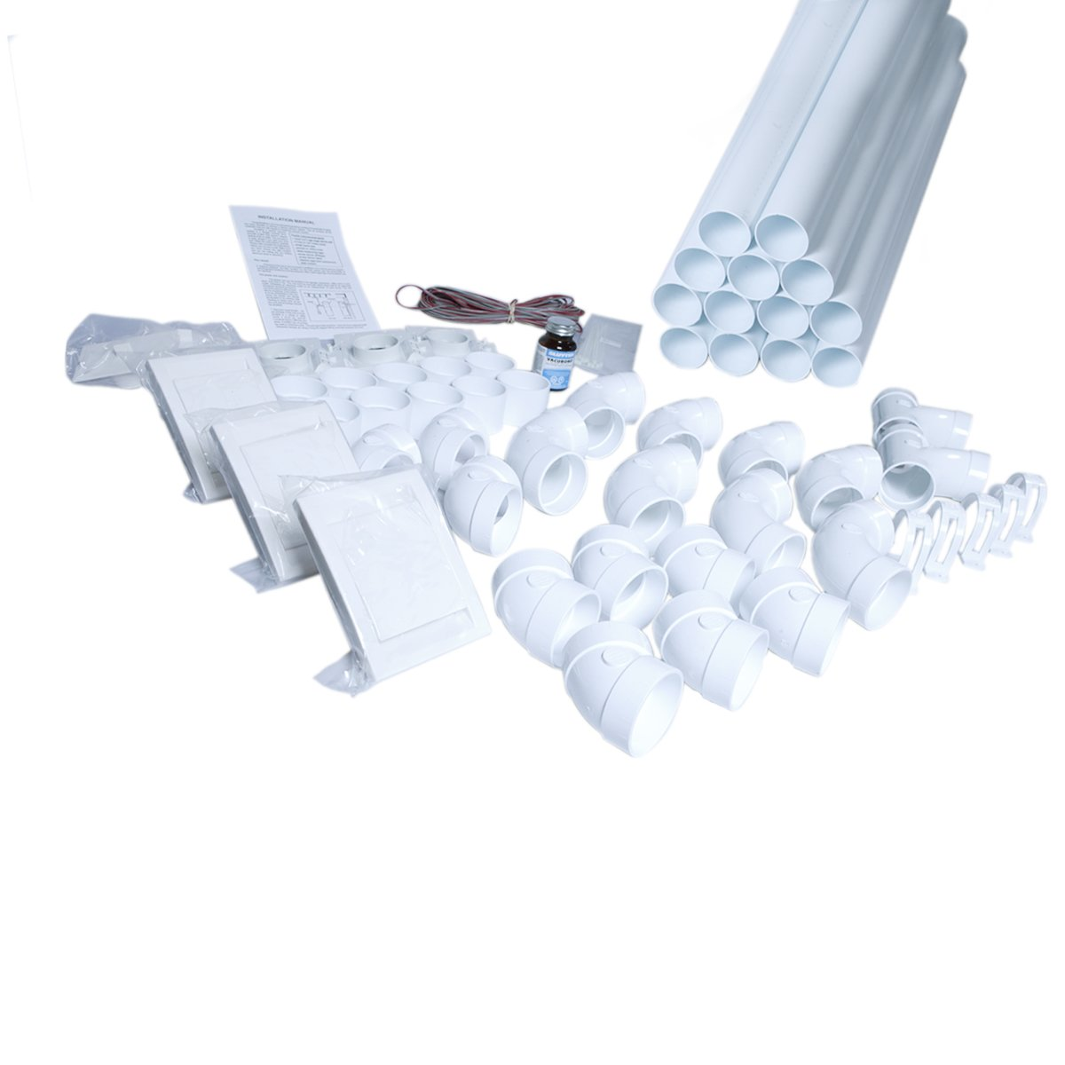 Einbau-Set für 3 DECO Saugdosen